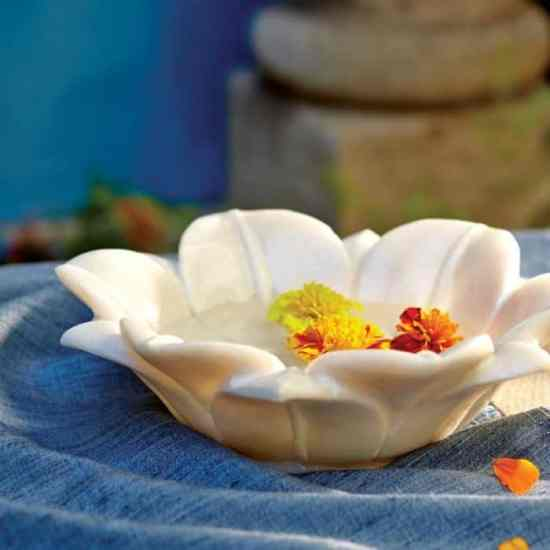 CRAFT marble lotus bowl