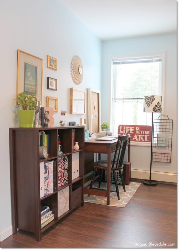 decorating a bedroom office nook. DagmarBleasdale.com