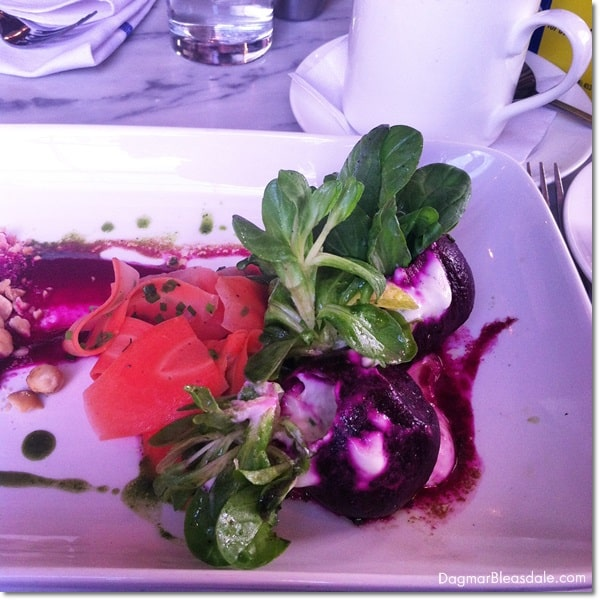 beet salad at Farmer and the Fish, Purdy, NY
