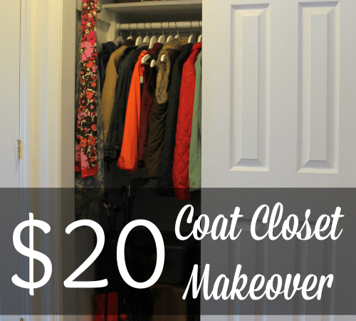 Easy $20 Coat Closet Makeover