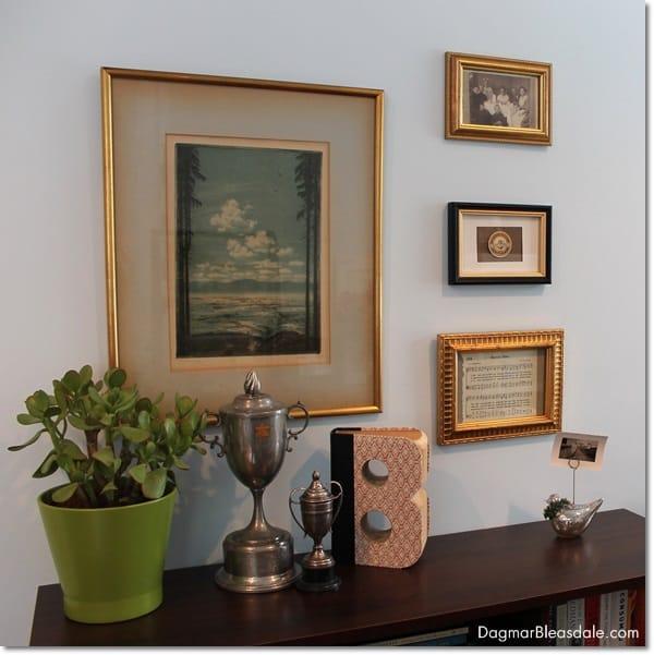 Gallery Wall With Framed Vintage Ephemera, DagmarBleasdale.com