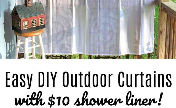 DIY Porch Curtains Made With $10 Shower Curtain Liners
