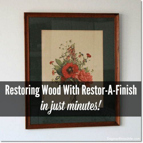 restoring wood with Restor-A-Finish