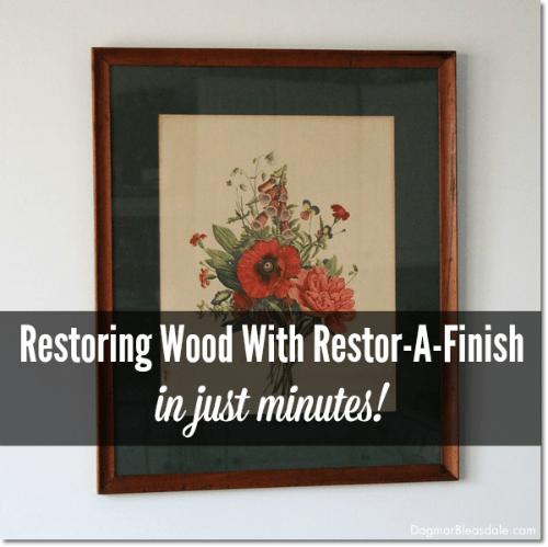 restoring wood with Restor-A-Finish, DagmarBleasdale.com, restoring wood furniture