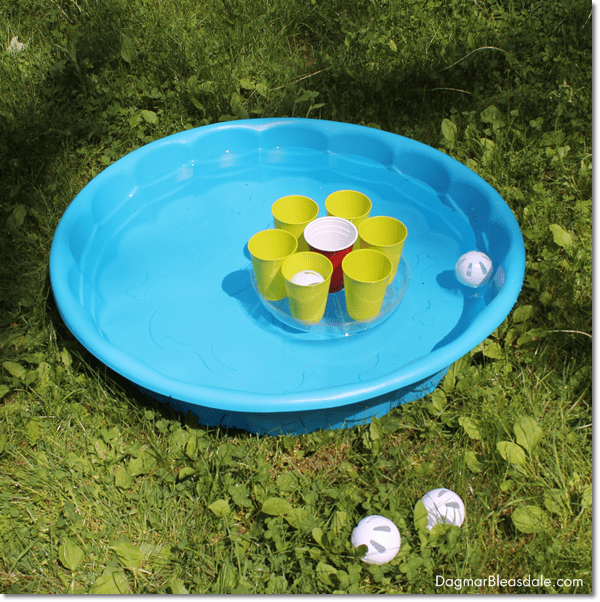 DIY Pool Party Ball Toss Game, DagmarBleasdale.com