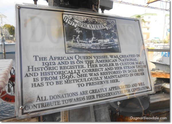 The African Queen tour, Key Largo, FL