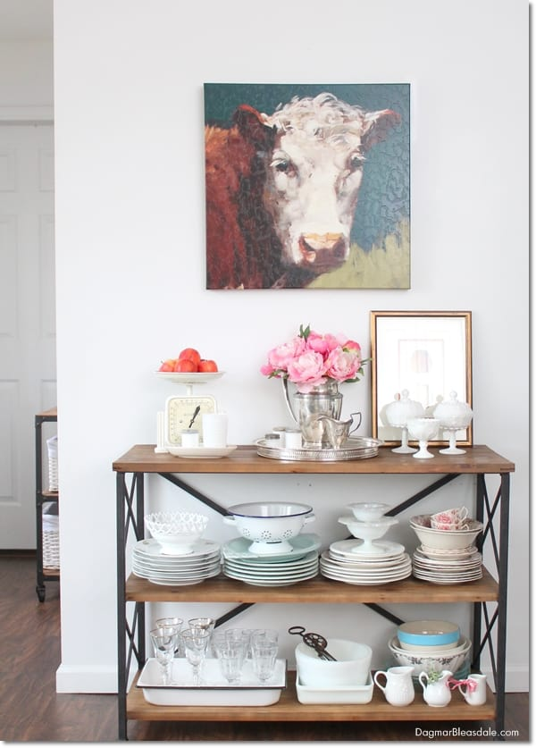 rustic farmhouse console table, DagmarBleasdale.com