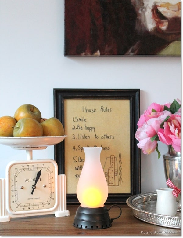 vintage hurricane lamp