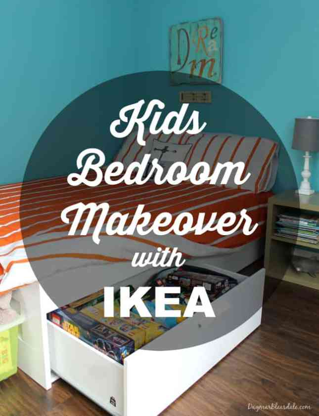 Kids IKEA bedroom makeover, DagmarBleasdale.com
