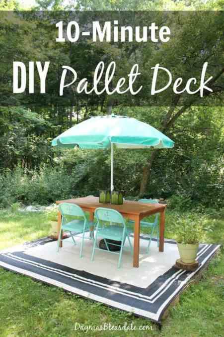 DIY pallet deck made with 4 free pallets, DagmarBleasdale.com