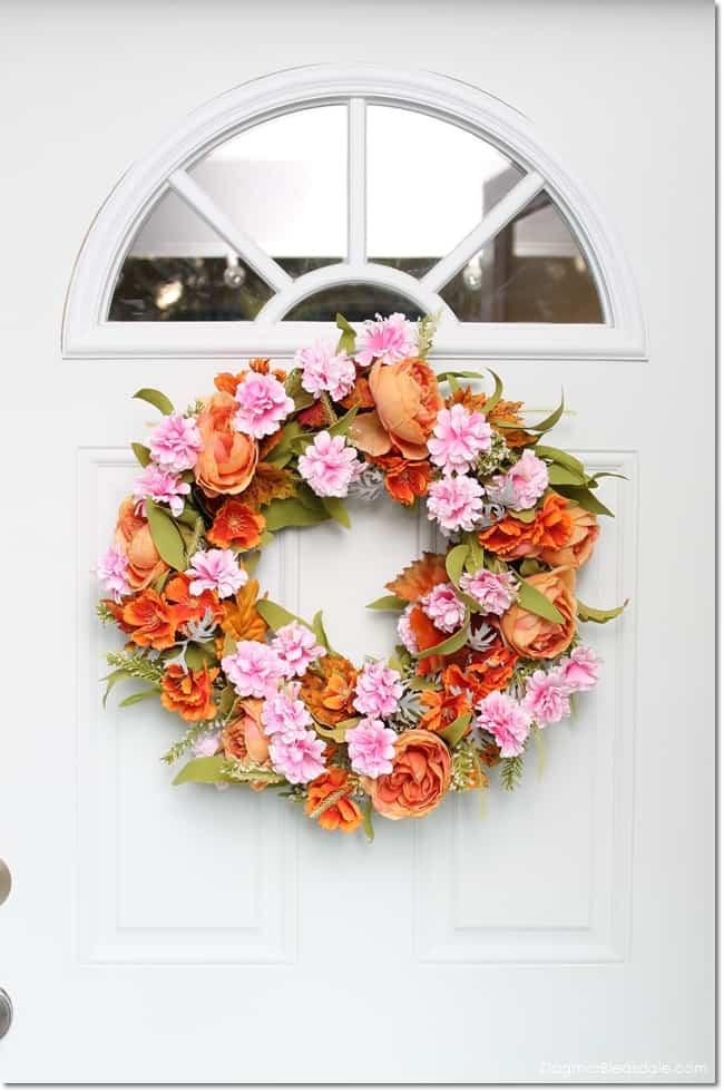 DIY fall wreath tutorial, DagmarBleasdale.com