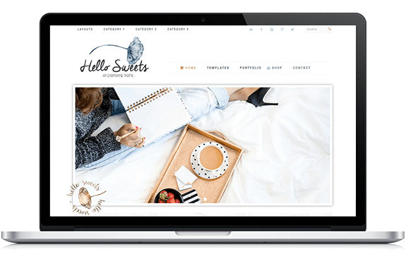 hello sweets theme from Hello You Designs