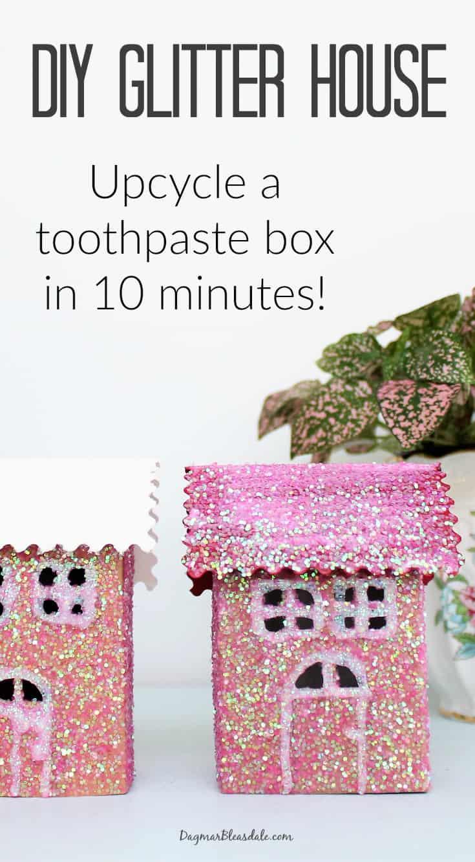 DIY glitter house tutorial, DagmarBleasdale.com