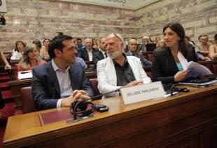 Alexis Tsipras, Eric Toussaint et Zoe Konstantopoulou