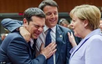 tsipras renzi merkel