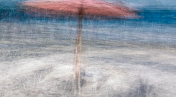 Beach Umbrella in The Round - a photo impressionistic image