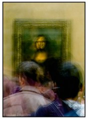 In Front of Mona Lisa; detail - an example of photo impressionistic technique