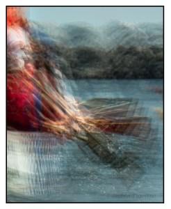 Photo impressionistic image of a dragon boat.