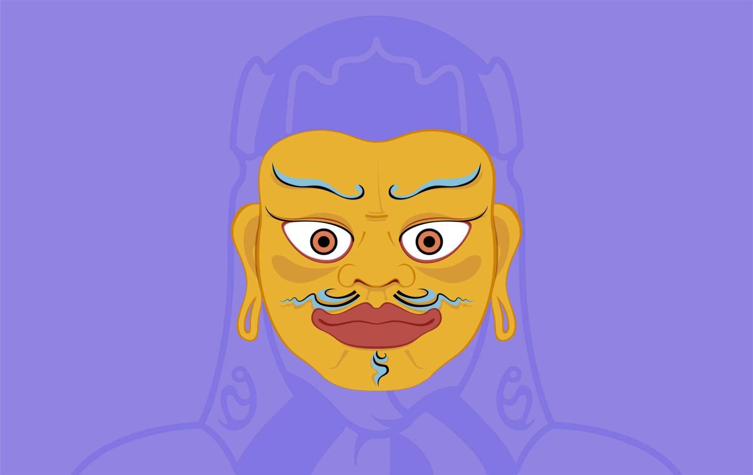 Illustrazione maschera Padmasambhava