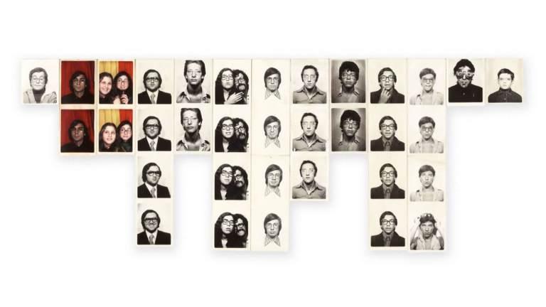 """Photostrip da collezione """"Photomatic d'Italia"""" - Franco Vaccari 1973-74"""