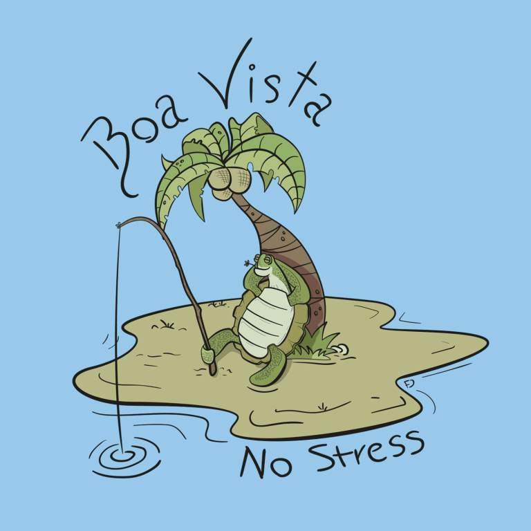Illustrazione fumetto tartaruga No Stress Boa Vista