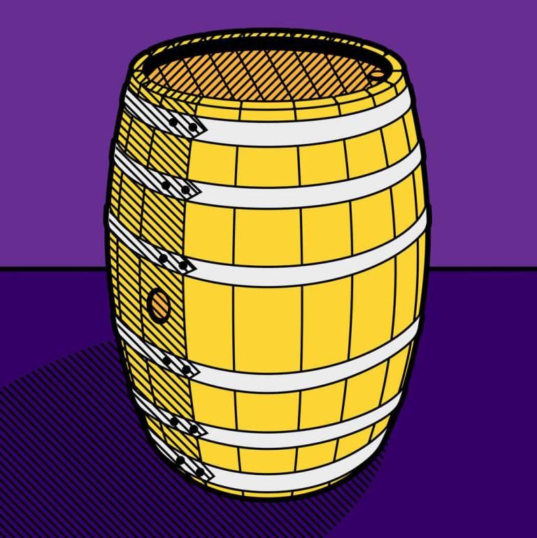 Illustrazione di una botte di vino