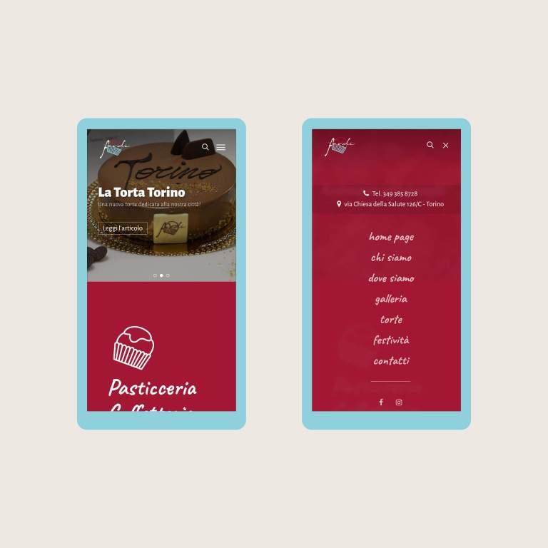 Sito Pasticceria Ferdi su smartphone mobile