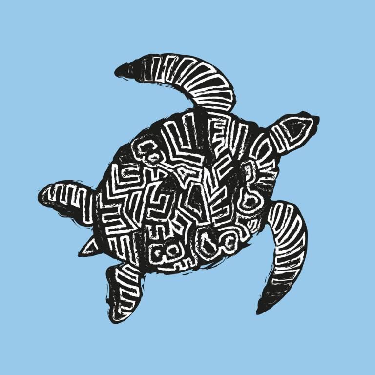 Illustrazione tartaruga tribale Boa Vista