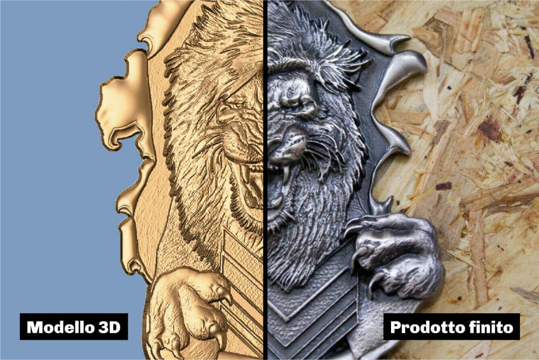 Creazione bassorilievo 3d - Render e incisione