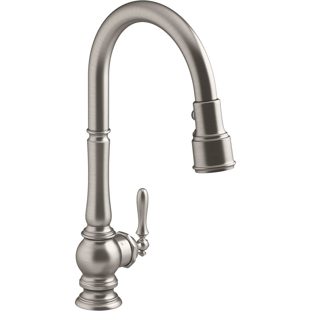 artifacts touchless pull down kitchen sink faucet