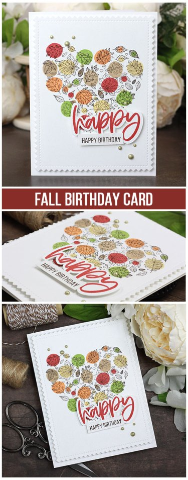 Sharing a quick and simple birthday card with a tutorial & quick video. The images are from the Heart of Autumn Unity Stamp Company stamp set. More inspiration on dahlhouse-designs.com. #cardmaking #cardmaker #cardmakingideas #cardinspiration #simplecards #stamping #dahlhousedesigns #unitystampco #handmadecards #diecutting #carddesign #cardtechnique #birthdaycard