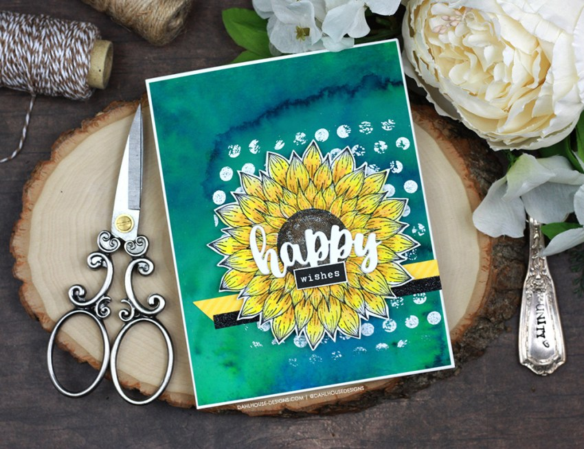 Sharing some sunflower card ideas with different layout inspirations. The images are from the Sunflower Wishes Unity Stamp Company stamp set. More inspiration on dahlhouse-designs.com. #cardmaker #cardmakingideas #cardinspiration #simplecards #rubberstamps #dahlhousedesigns #unitystampco #handmadecards #carddesign #craftersgonnacraft #papercrafting #papercrafts #sunflowers #flowercards #birthdaycards #prettycards