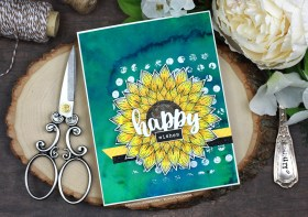 Vibrant Sunflower Wishes Card