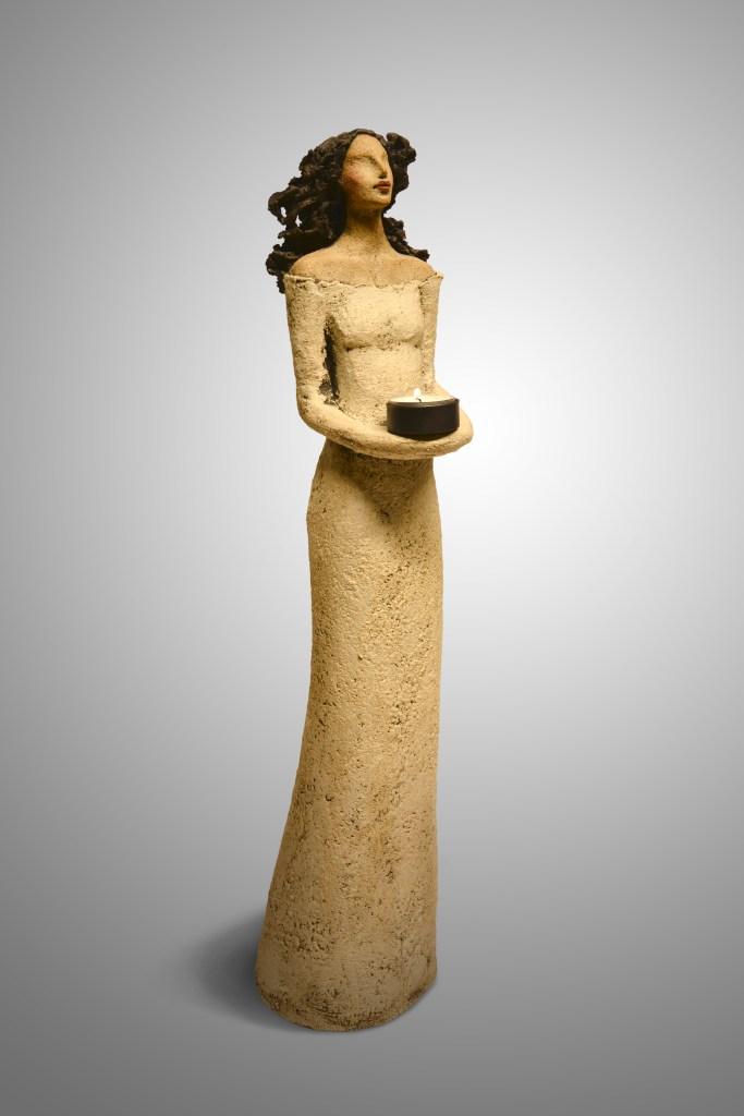 Lysbærer, keramikk, skulptur, Ingun Dahlin
