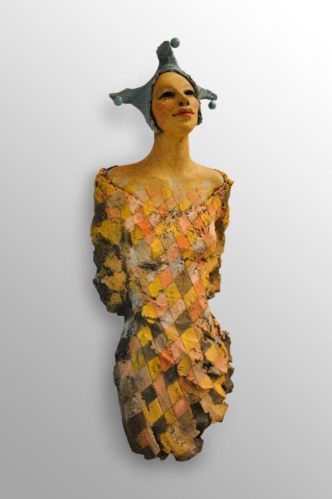 narr, harlequeen, skulptur, keramikk, Ingun Dahlin