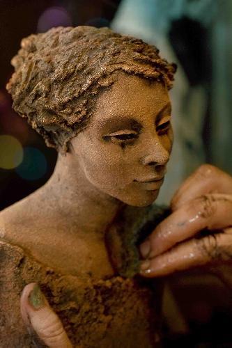 Sverting, Ingun Dahlin, keramikk, skulptur, verksted, uferdig