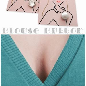 The Blouse Button is a stylish solution to blouse gape. (Photos: Blouse Button.)