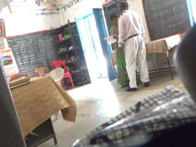 In Bhaman, principal physical abuse in a class room with teacher
