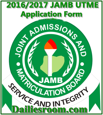 2016/2017 JAMB UTME Application Form