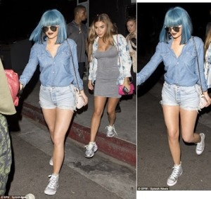 Kylie Jenner ripped denim hot pants for outing (See Photos)