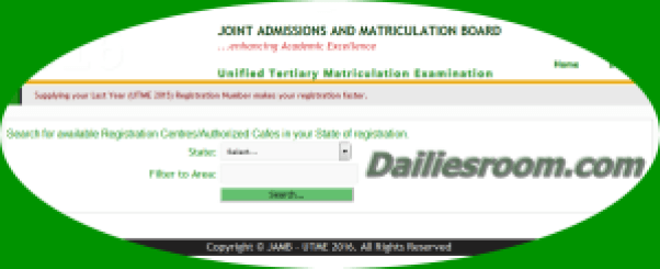 2015 JAMB Registration Centres