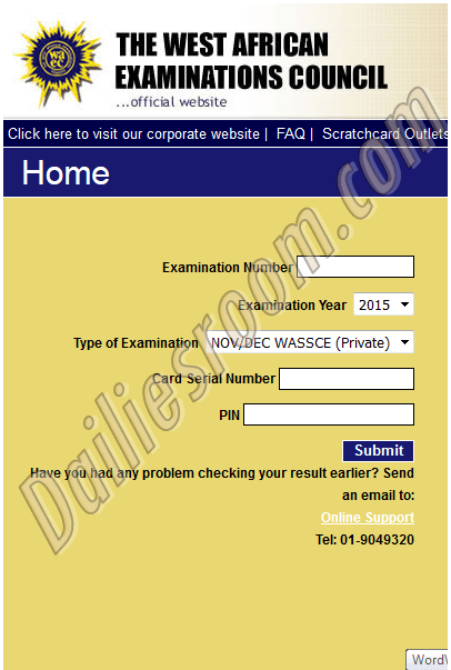 2016 WAEC May/June WASSCE Results - Check Result now