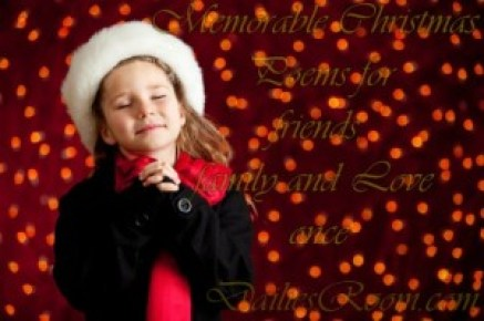 Memorable Christmas Poems for friends, family and Love once
