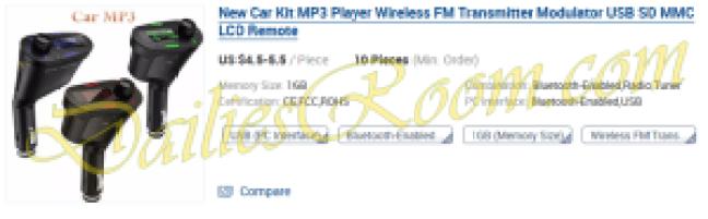 New Car Kit MP3 Player Wireless FM Transmitter