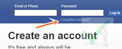 How to Retrieve Lost FaceBook Account - Recover FB.com Password