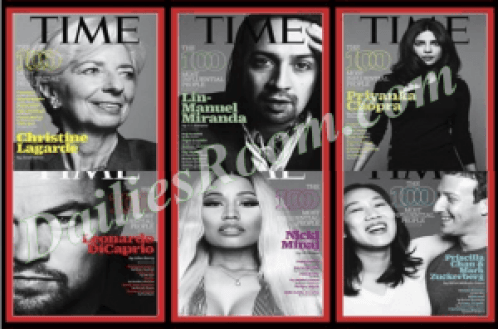 100 Most Influential People For 2016 - List Of TIME Magazine