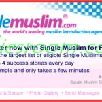 SingleMuslim.com Free Registration for Muslim Singles & Muslim Matrimony