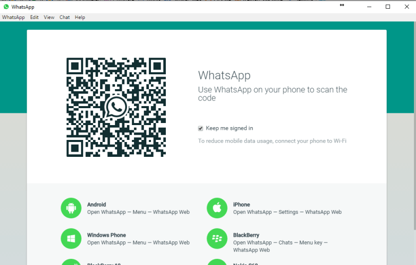 Install Whatsapp for PC