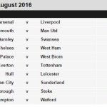 2016/2017 English Premier League Fixtures (EPL)