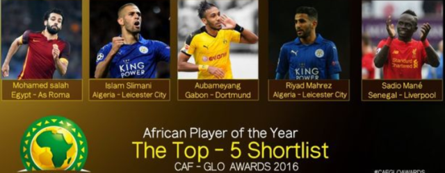 CAF African Player of The Year Awards 2016 Nominees